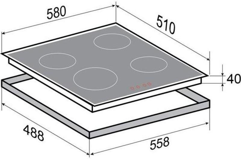 Варочная поверхность Zigmund&Shtain CNS 027.60 WX