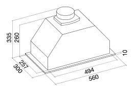 Вытяжка Falmec FALMEC GRUPPO INCASSO ECO/BUILT-IN 50 MAX Арт. CBIN50.E4#ZZZ3460F