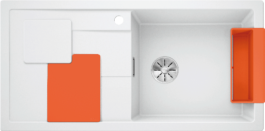 Мойка Blanco SITY XL 6 S SILGRANIT PuraDur белый-апельсин